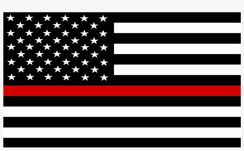 Thin Red Line Flag Decal.