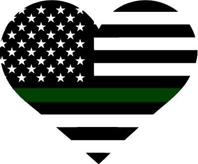THIN GREEN LINE HEART.