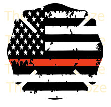 Thin Red Line Distressed Cross Firefighter & Thin White Line.
