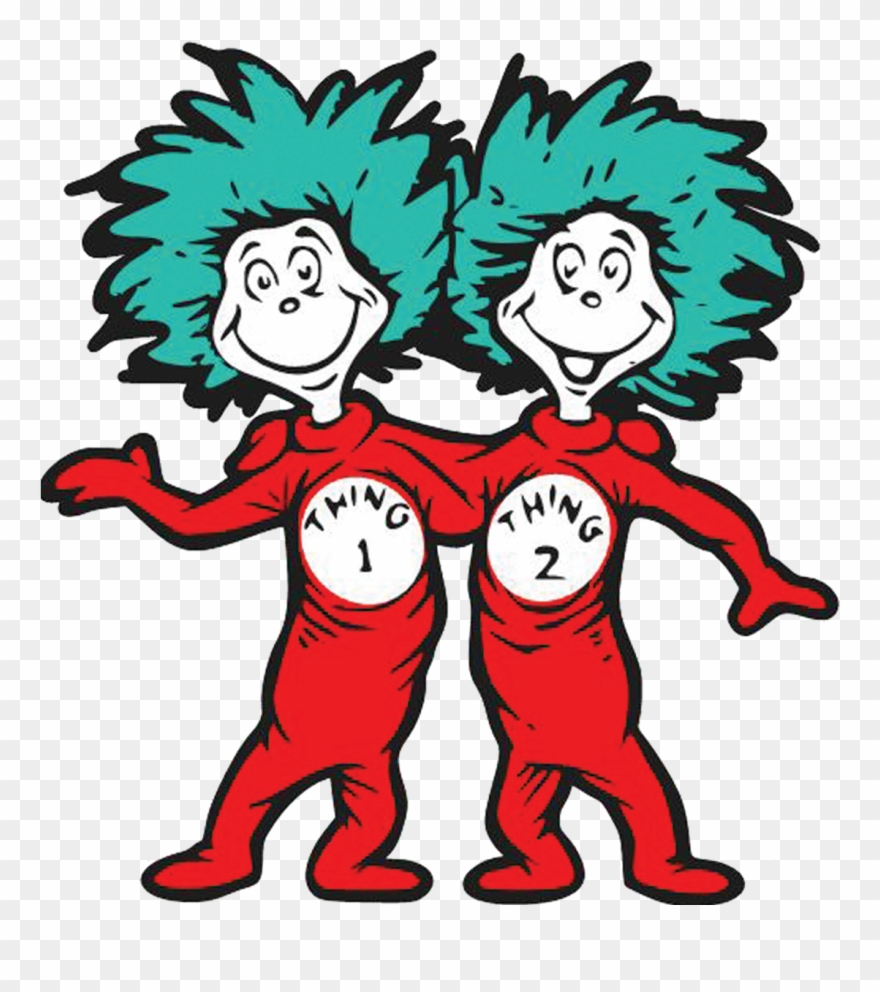Thing 1 And Thing 2 Running With A Kite Exercise For.