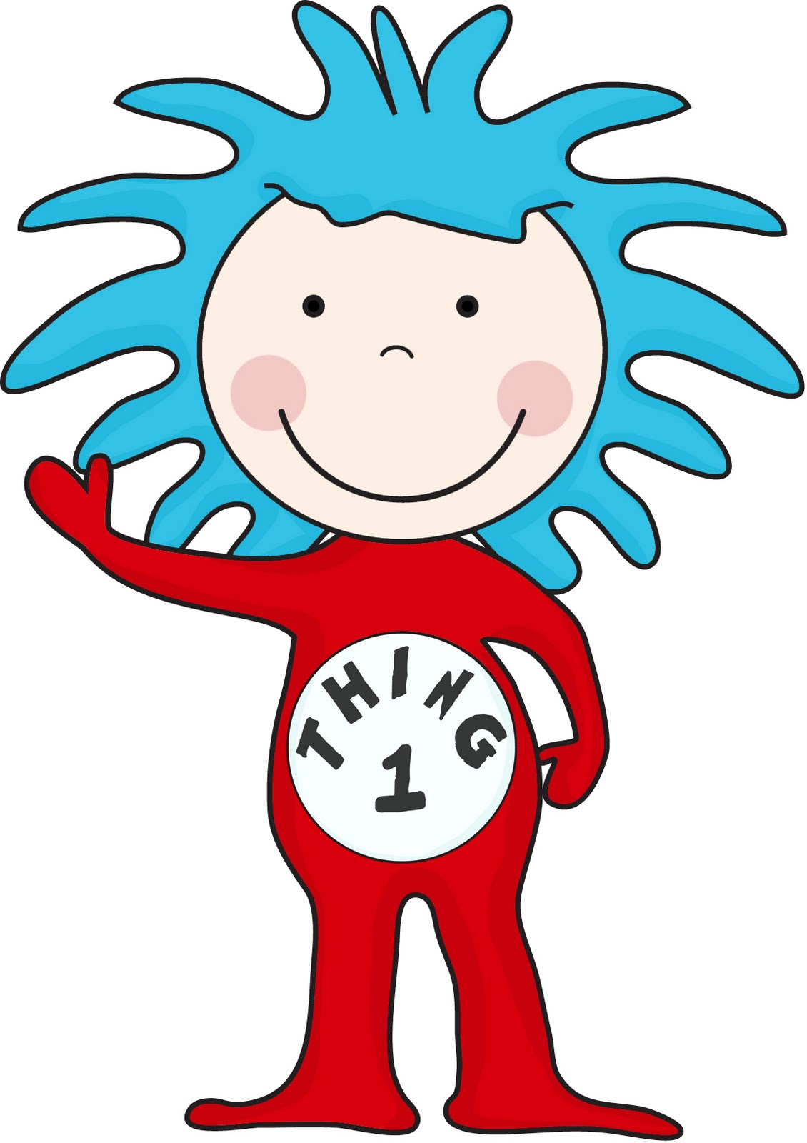 Thing 1 Clipart.