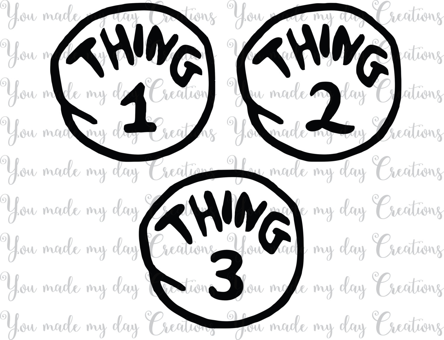 Thing 1 And Thing 2 Clipart Free.