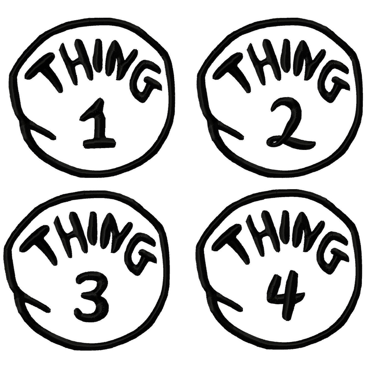 Top Thing 1 and Thing 2 Free Printable Template.