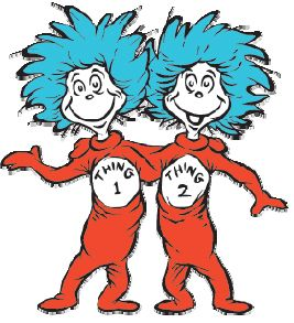 printable images of thing 1 and thing 2.