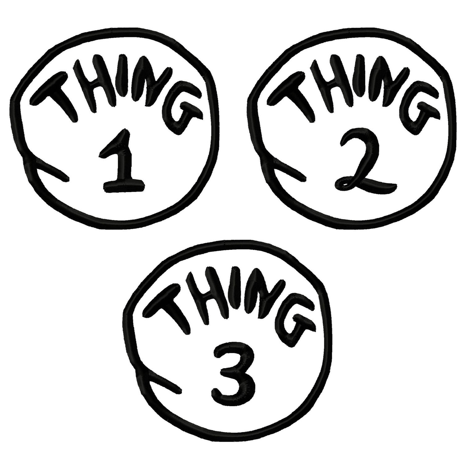 Free Thing 1 And Thing 2 Black And White, Download Free Clip.