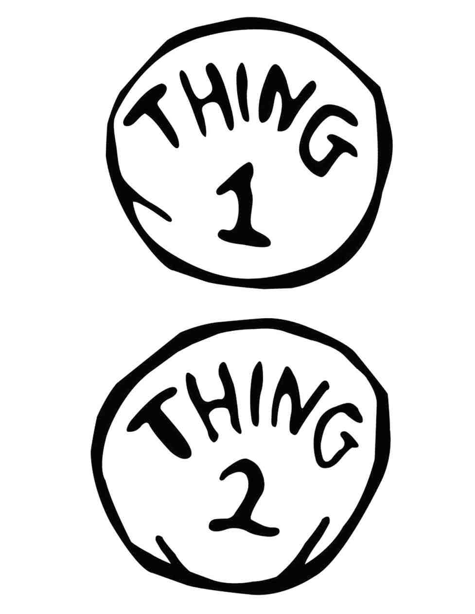 Thing 1 And Thing 2 Clipart Black And White.