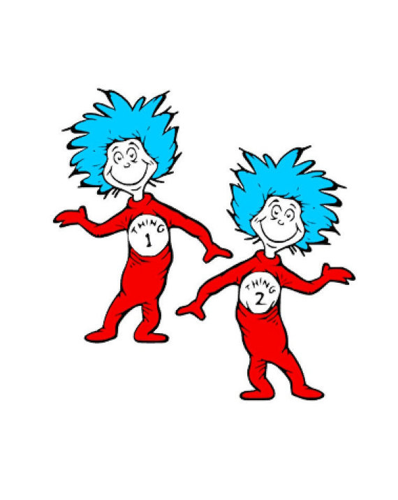 Pictures Of Thing 1 And Thing 2.