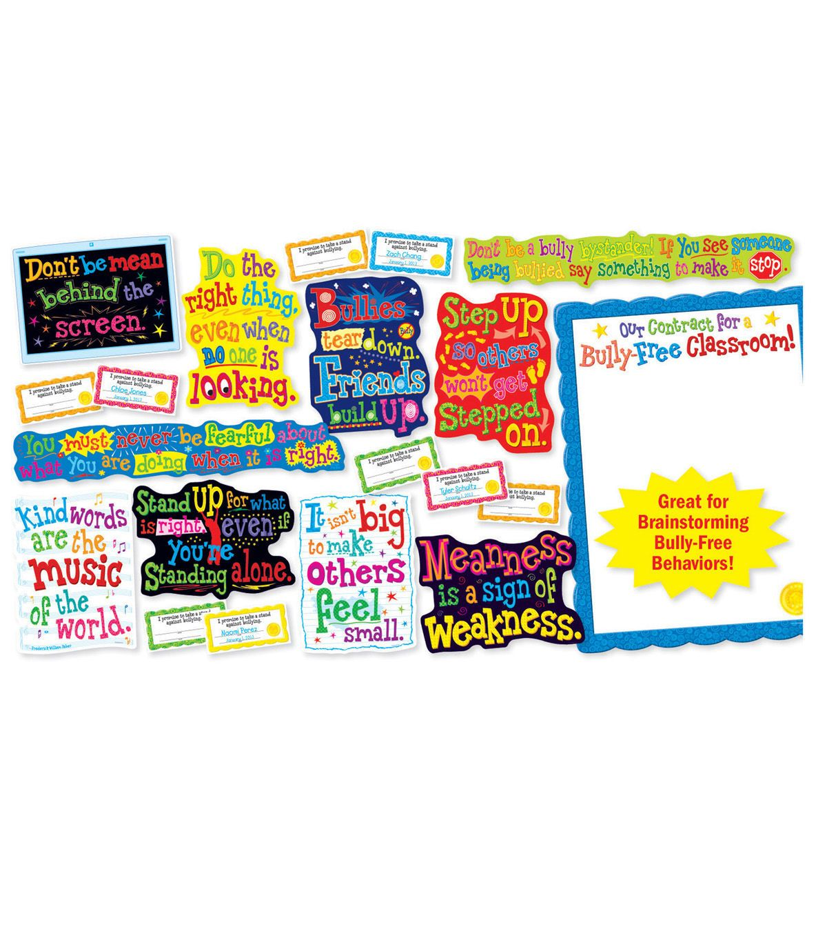 Scholastic Our Bully Free Classroom Bulletin Board Set, 2.
