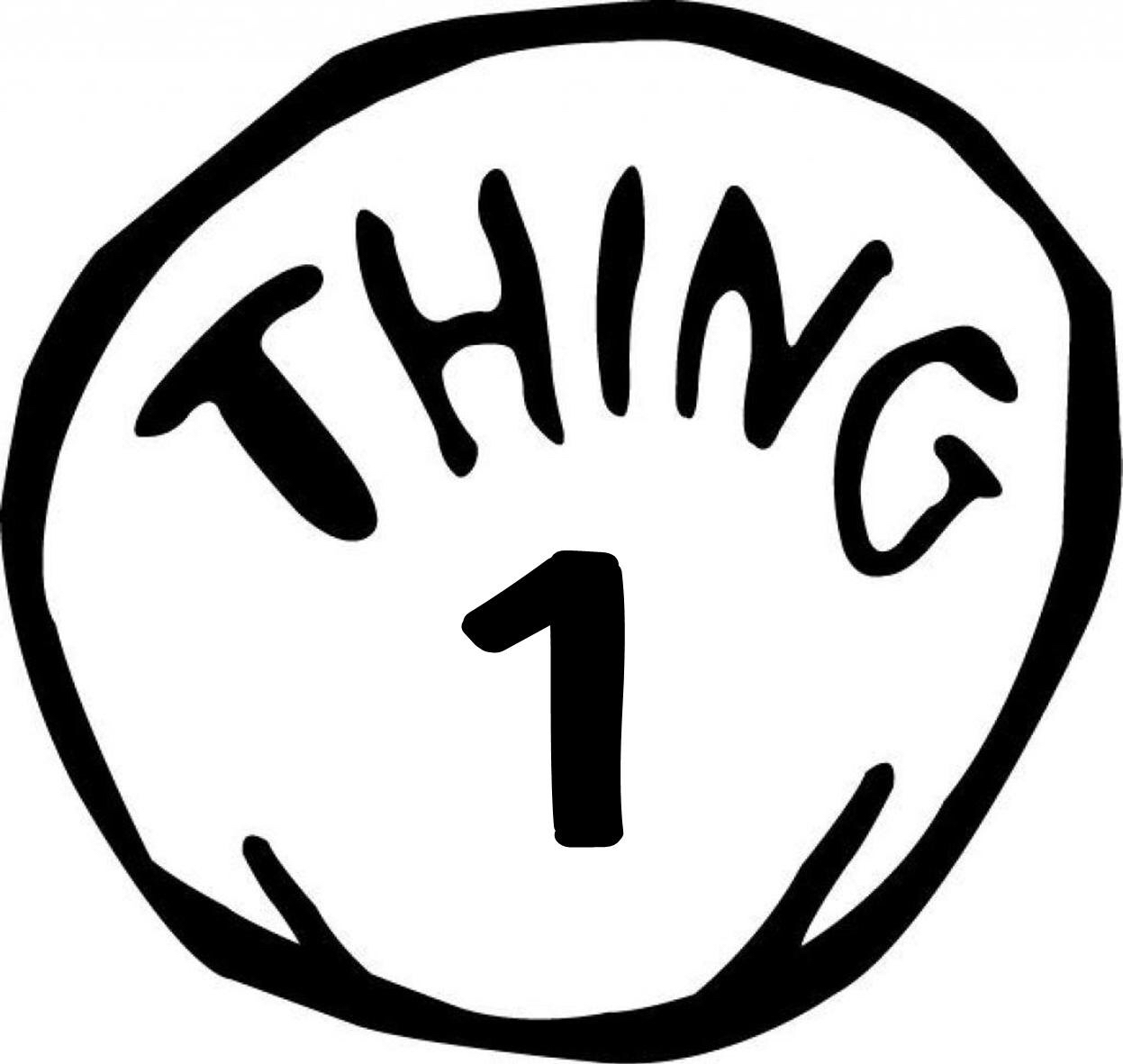 139 Thing 1 And Thing 2 free clipart.