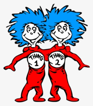 Thing 1 And Thing 2 PNG, Transparent Thing 1 And Thing 2 PNG.
