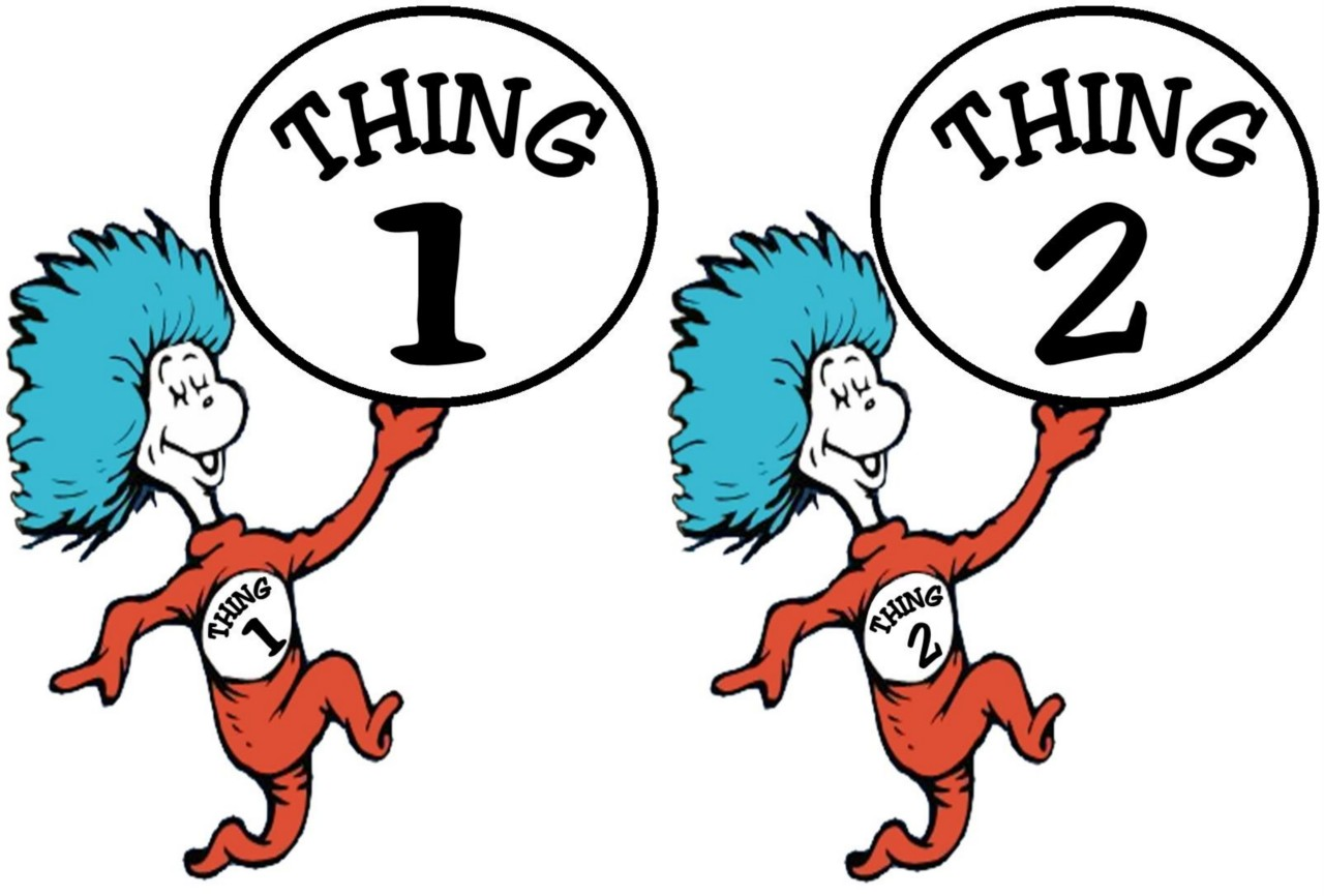 95+ Thing 1 And Thing 2 Clipart.
