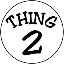 Thing 1 And Thing 2 Logo.