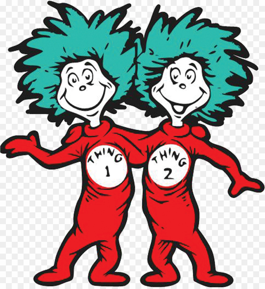 Thing 1 And Thing 2 Story PNG Thing One Thing Two Clipart.