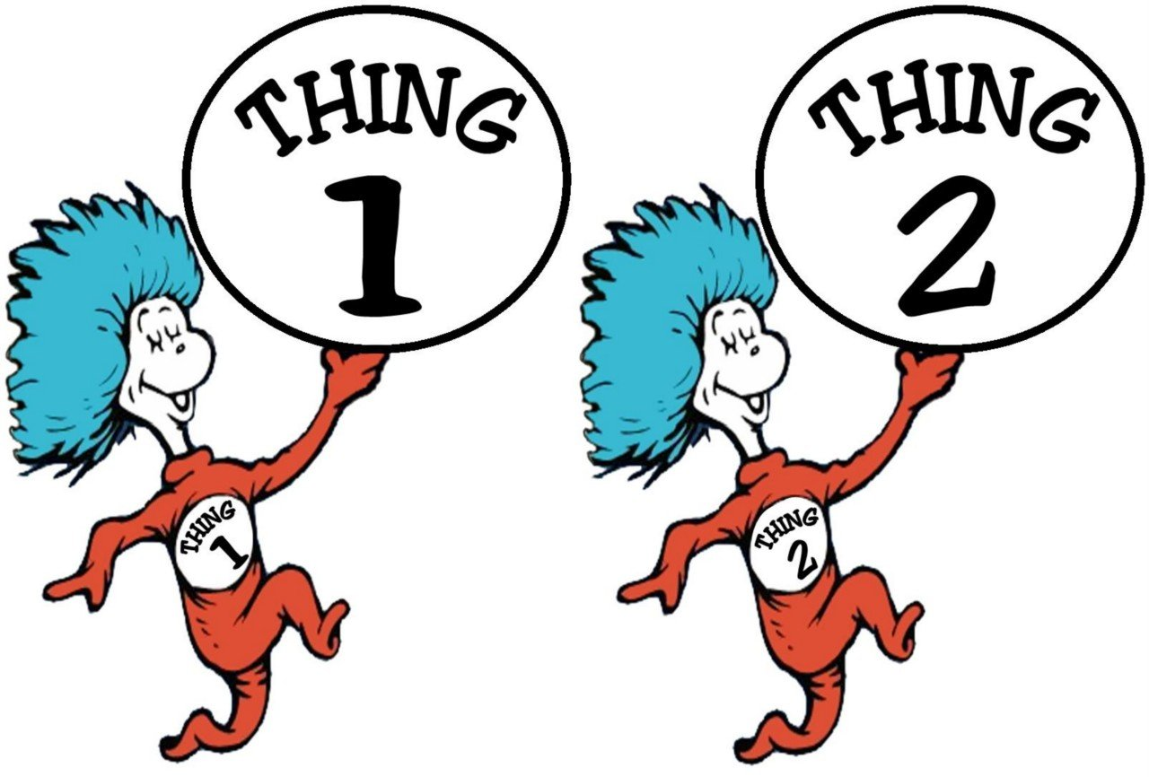Thing 1 And Thing 2 Clipart.