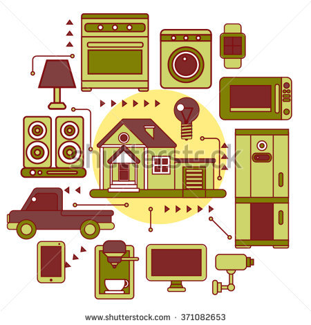 Smart Home Iot Internet Things Control Stock Vector 371082653.
