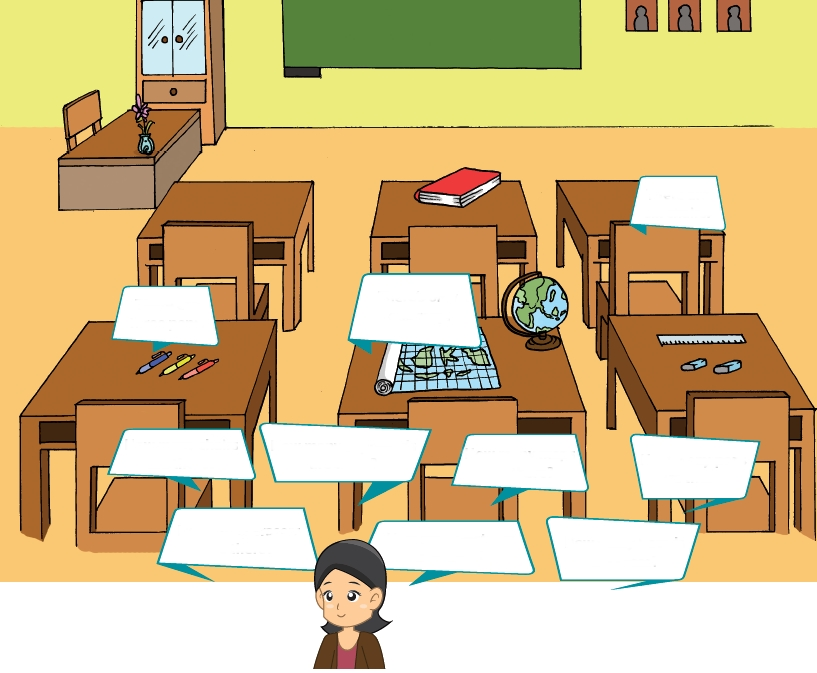 Things Inside The Classroom Clipart.