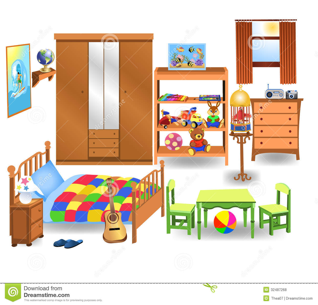 Bedroom Clipart Pictures.