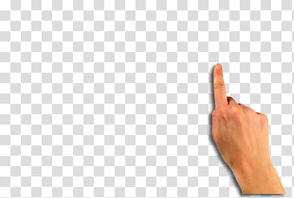 Things, right human index finger transparent background PNG.