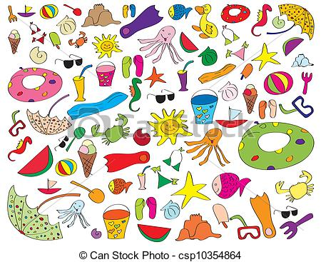 Beach Clipart For Kids.