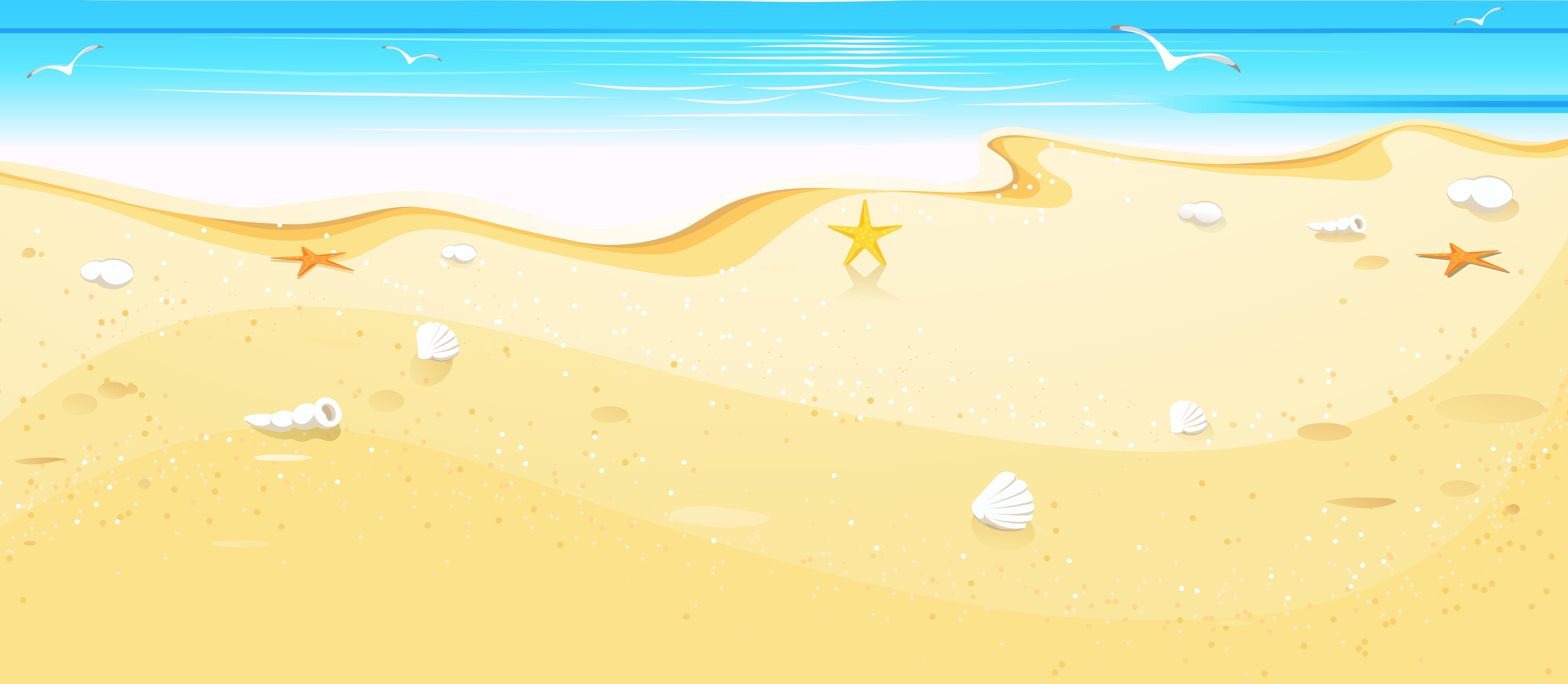 Beach Clipart Background.