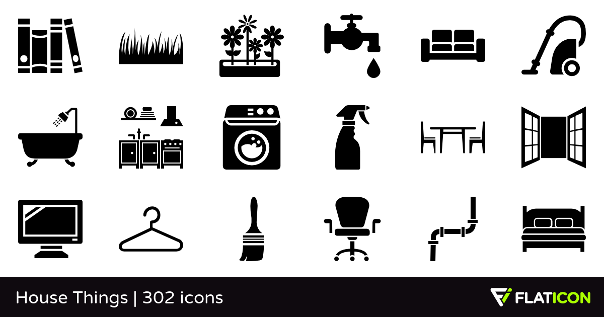 House Things +300 free icons (SVG, EPS, PSD, PNG files).