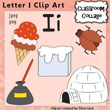 Alphabet Clip Art Letter I.
