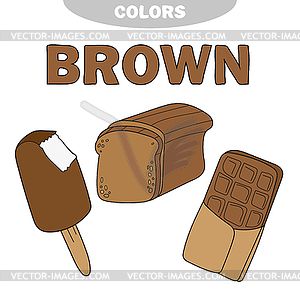 Learn Color Brown.