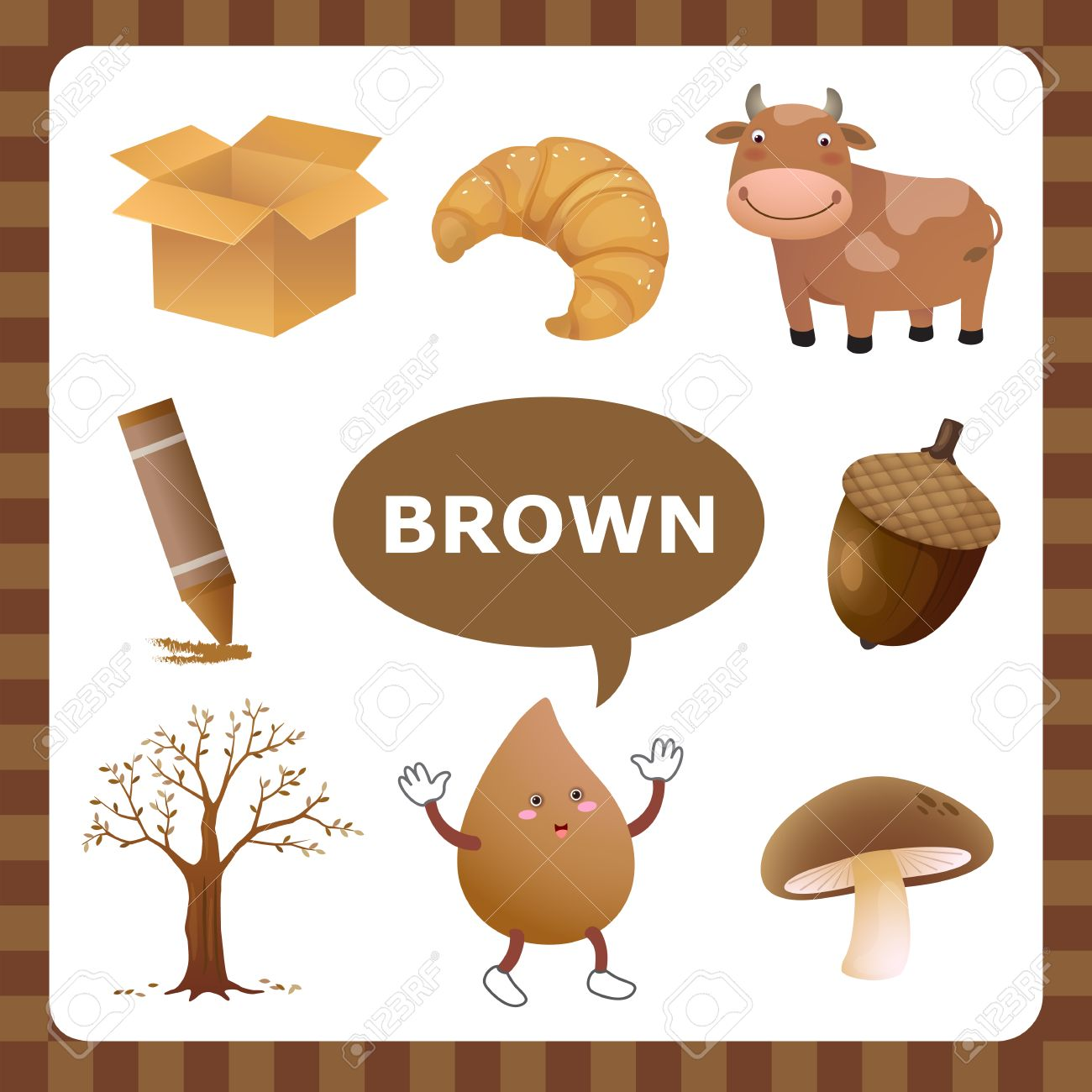 Brown Things Clipart.