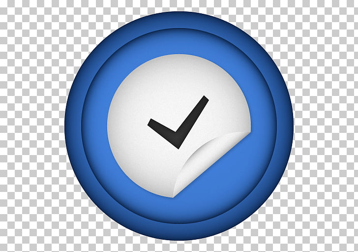 Circle symbol font, Things, round blue and gray check button.