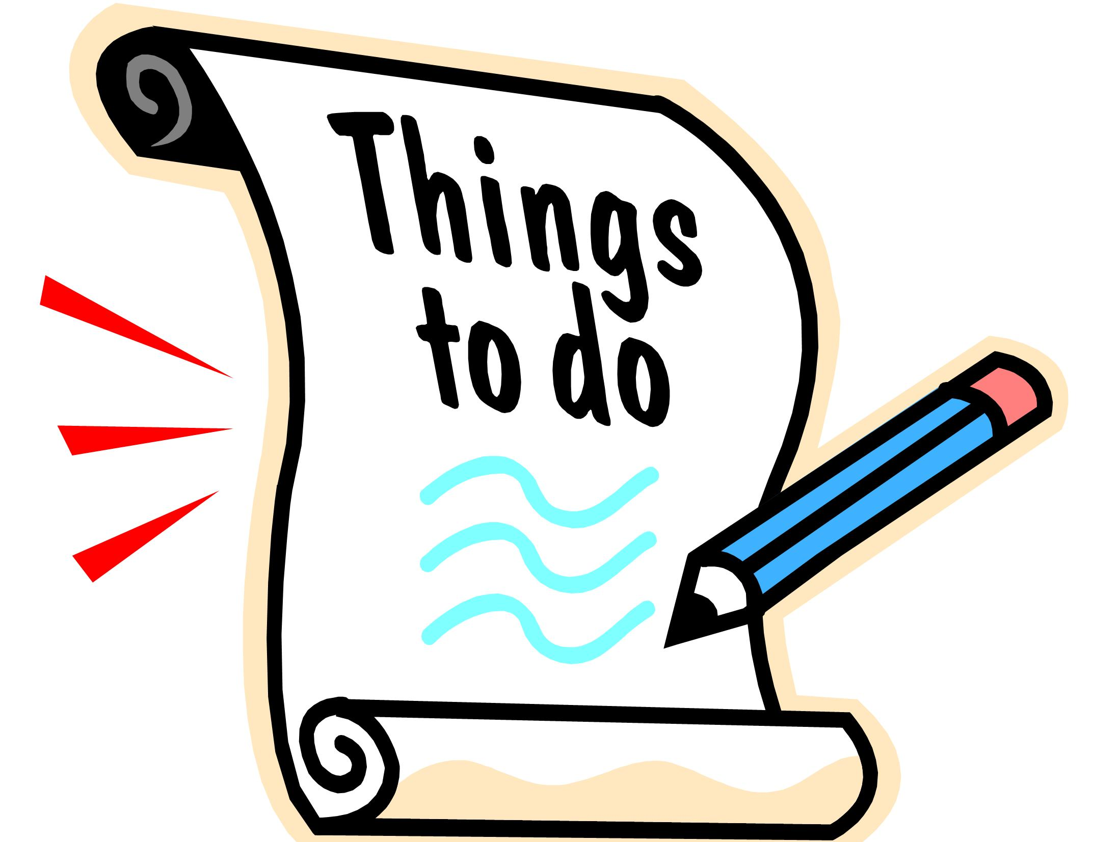 Things To Do Clipart.