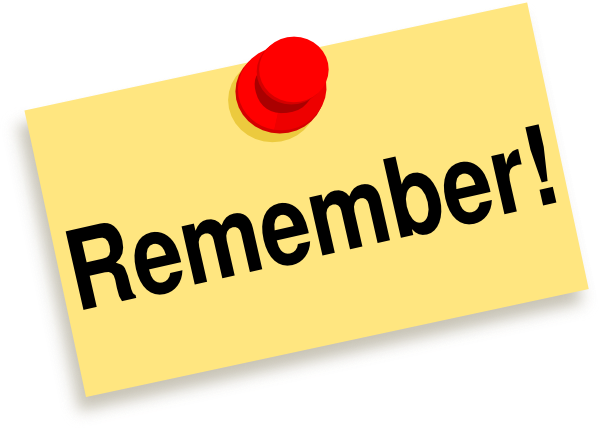 To Remember Clipart.