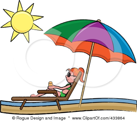 Clip Art Beach Umbrella And Chair Clipart#1997928.