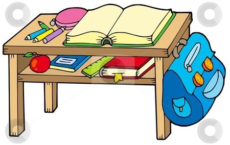 School Table Clip Art.