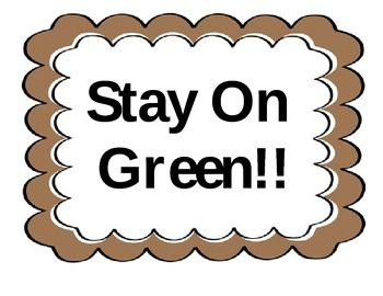 Stay On Green.