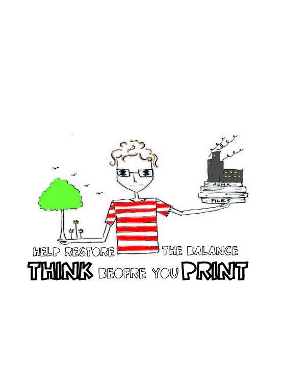Think Before You Print.