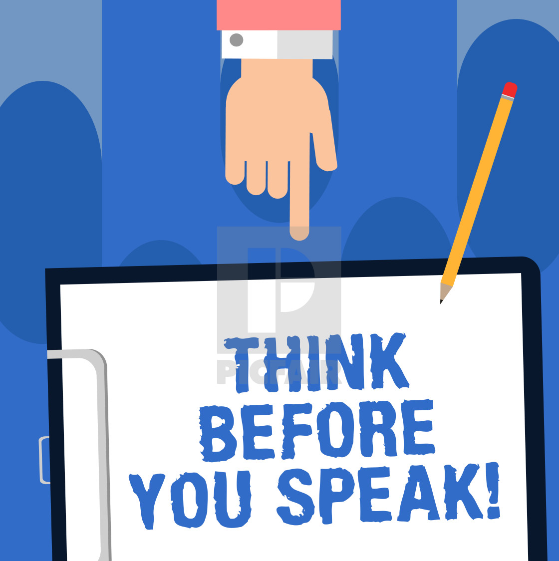 Writing note showing Think Before You Speak. Business photo.
