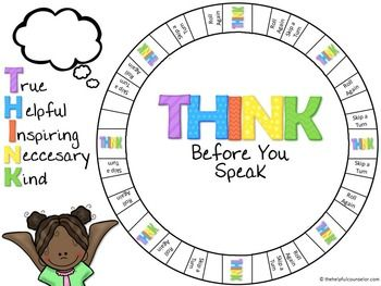 THINK Before You Speak: A Thoughtful Conversation Game.