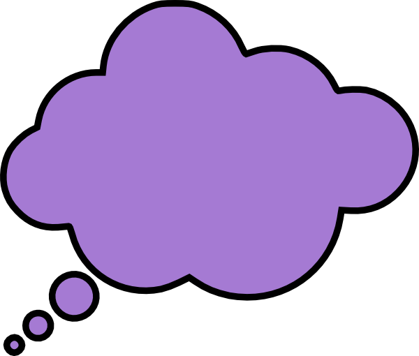 Thought bubble speech bubble clipart.