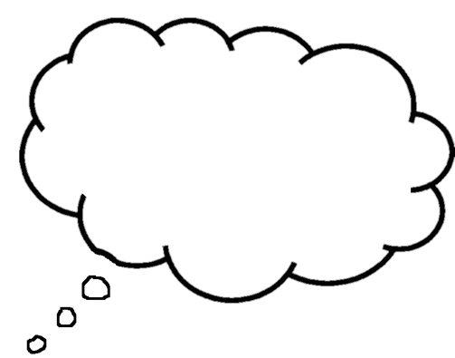 Printable Thought Bubbles.