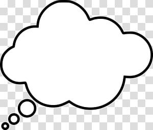 Black cloud chat head illustration, Thought Speech balloon.