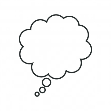 Thinking Cloud Png, Vector, PSD, and Clipart With.