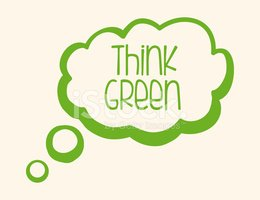 Think Green Design Stock Vector.