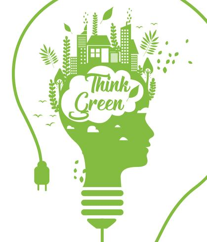 Think Green Poster Vol 3 Vector.
