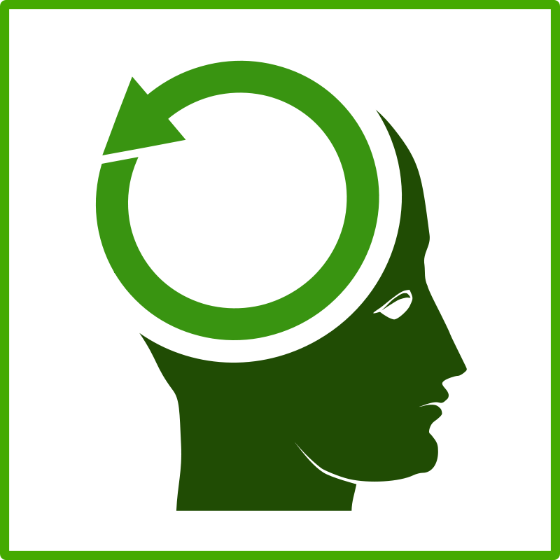 Free Clipart: Eco think green icon.