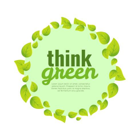 Think Green Poster Background.