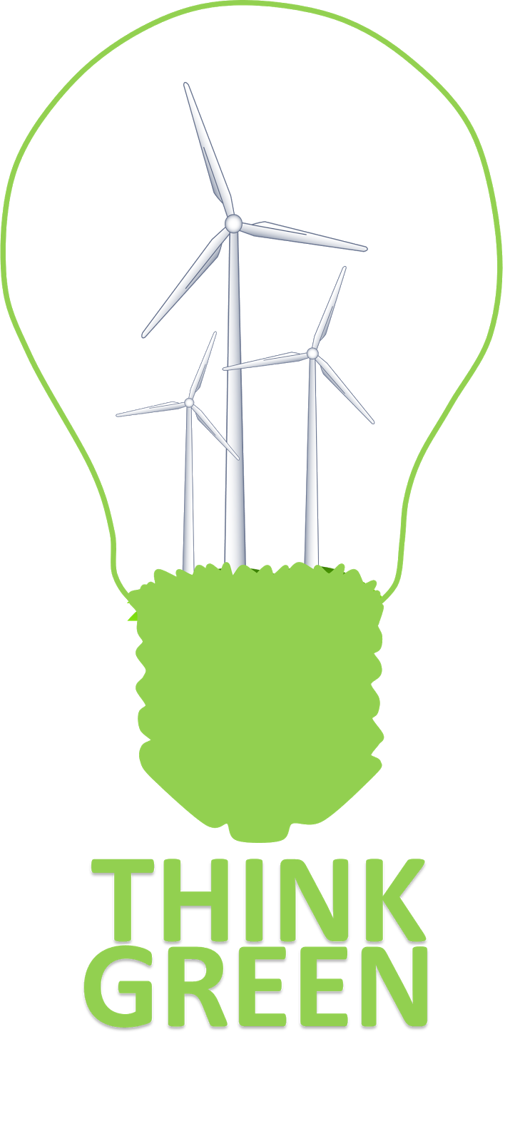 Clipart Creationz: Think Green Poster.