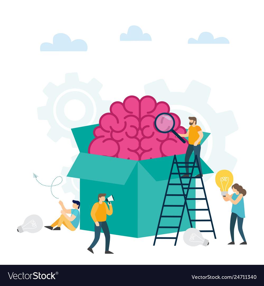 Creative idea think outside the box.