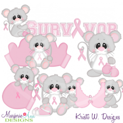 Think Pink SVG Cutting Files Includes Clipart.