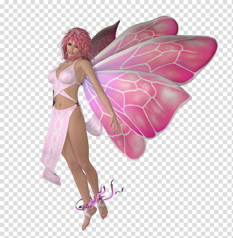 Think Pink Fairies, woman with wing game character.