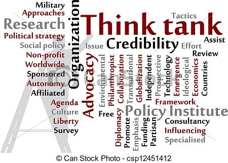 Vector Clip Art of Think tank words cloud illustration csp12451412.